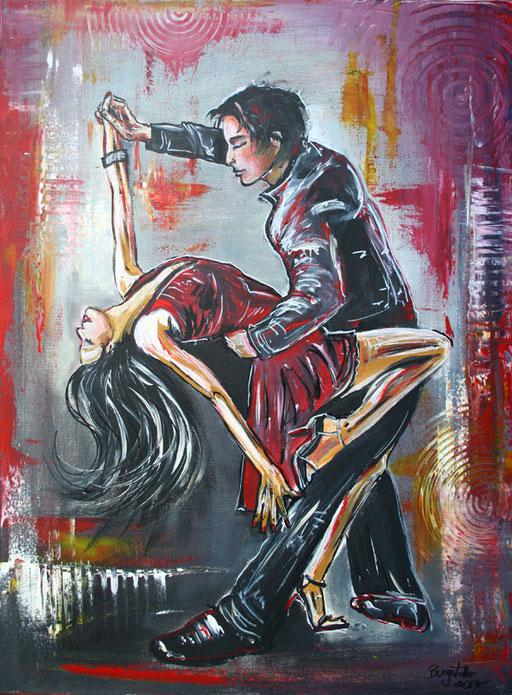 S 16 - Tanz Malerei - Gemälde Tänzer - Salsa Tanzpaar
