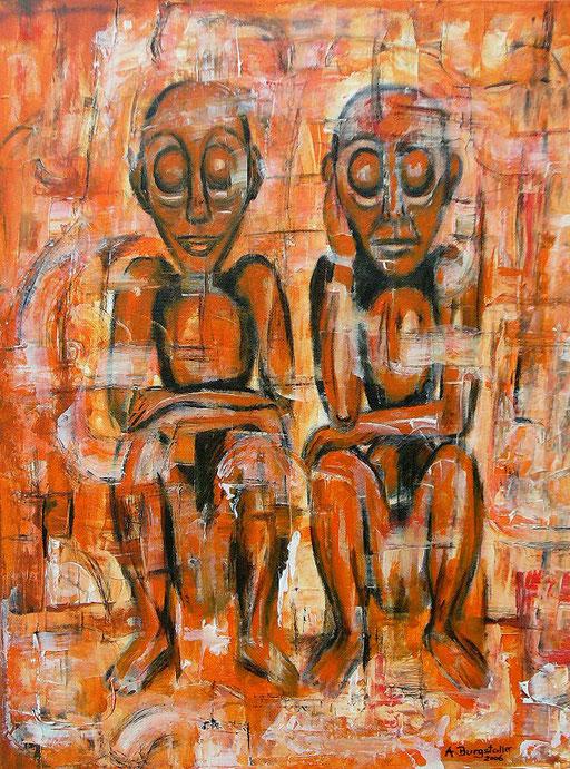 F 27 - Figuerliche Malerei - Figurative Wandbilder - Schweigen