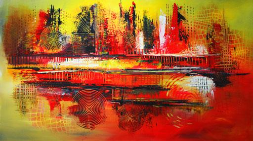 127 Verkaufte abstrakte Bilder - Nariobi gemalt - Sonnenuntergang