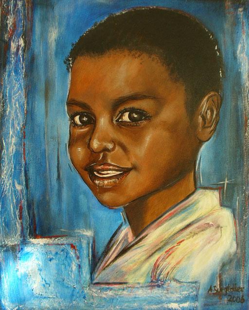 P 29 - Künstler Portrait Gesichter Gemalt - Papua