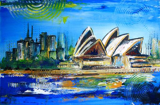 S 26 - Stadtbilder auf Leinwand - Sydney Oper