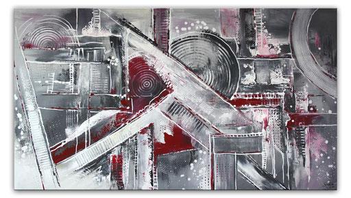 246 Verkaufte abstrakte Malerei rot grau