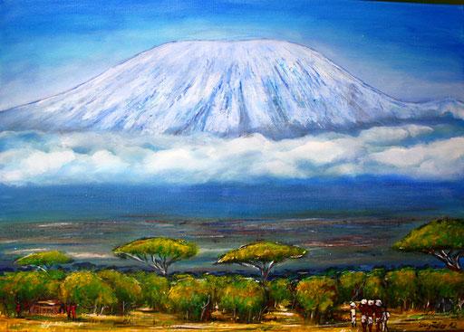 L 4 - Landschaftsbilder Gemälde - Kenia Kilimanscharo