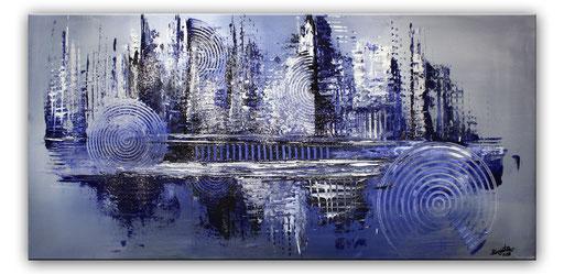 300 - Eiszeit abstraktes Gemälde 100x50