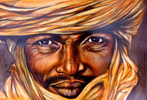 P 7 - Künstler Portrait Gesichter Gemalt - Touareg 3