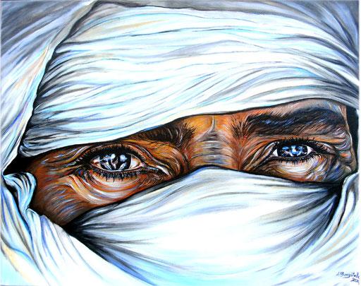 P 37 - Künstler Portrait Gesichter Gemalt - Weißer Tuareg 2
