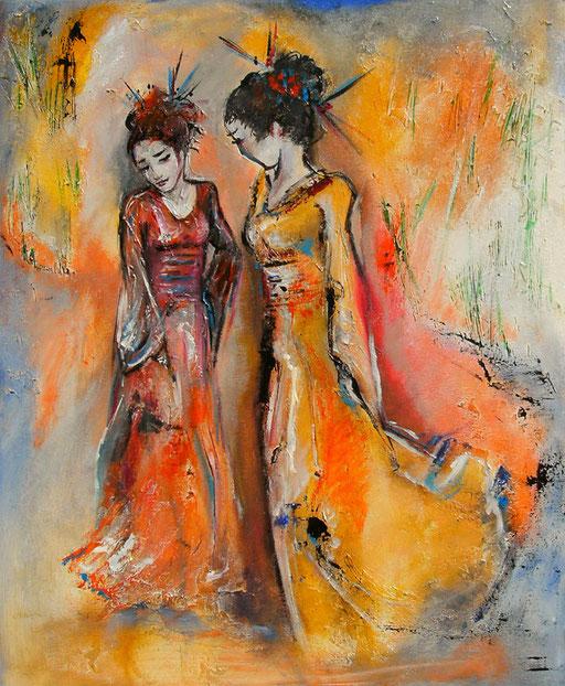 F 20 - Figuerliche Malerei - Figurative Wandbilder - Geishas