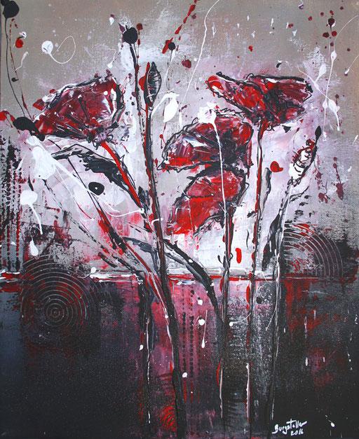 B 19 - Blumenbilder auf Leinwand - Sturmblumen