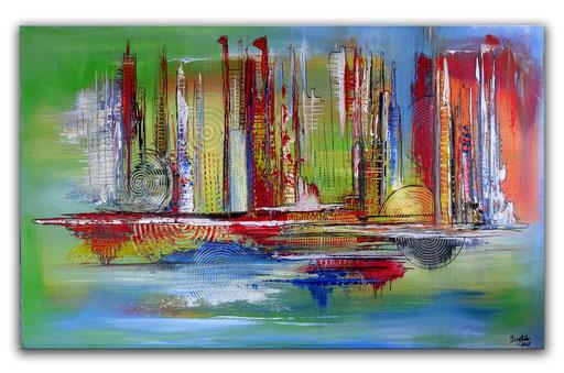 226 Verkaufte abstrakte Malerei - Farbentürme