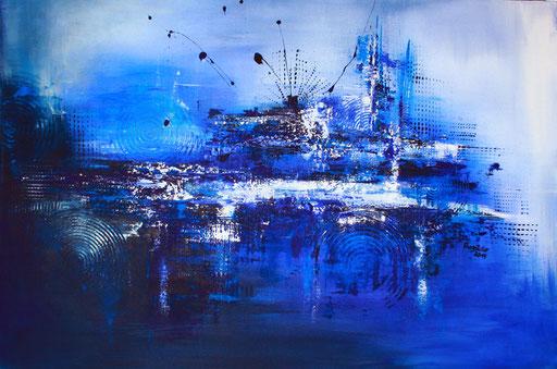 159 Verkaufte Bilder abstrakt - Seebeben gemalt