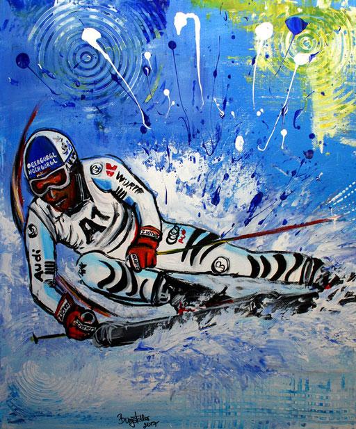 S 33 - Sport Gemälde Skifahrer Leinwandbild - Fritz Dopfer 19