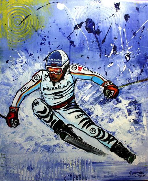 S 29 - Sport Gemälde Skifahrer Leinwandbild - Fritz Dopfer 14
