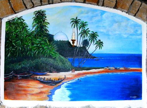 L 17 - Landschaftsbilder Gemälde - Sri Lanka Strand Wandbild