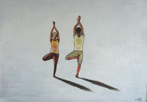 F 73 - Figuerliche Malerei - Figurative Wandbilder - Yoga