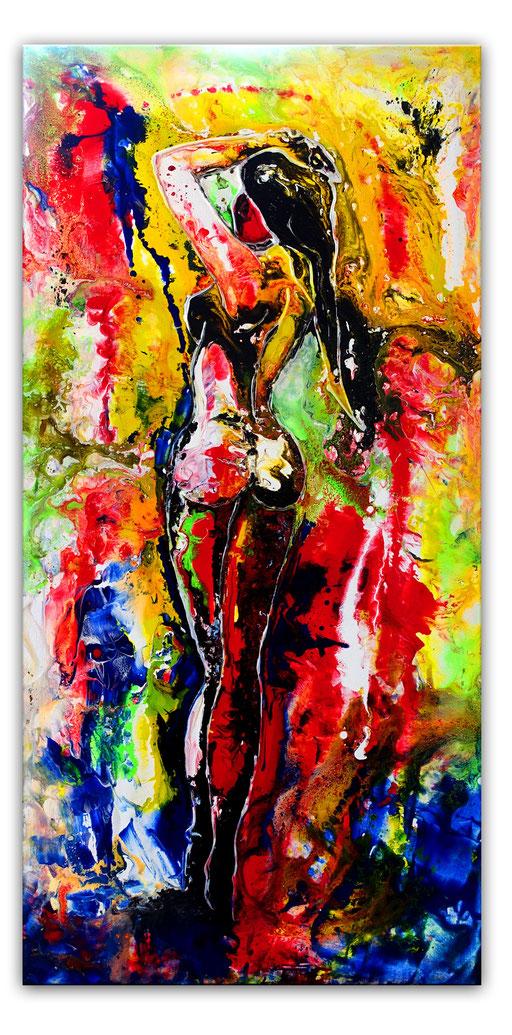 E 40 - Rückblick Erotik Bilder Acryl - 50x100