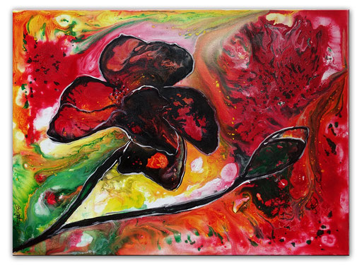 B 77 - Flowers 70x100 quer Liquid Painting