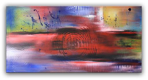 303 - Stimmungen abstraktes Gemälde 100x50