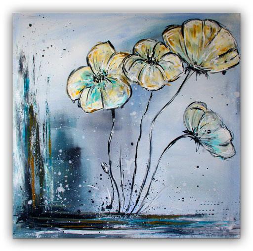 B 32 - Blumenbilder auf Leinwand - Dancing Flowers