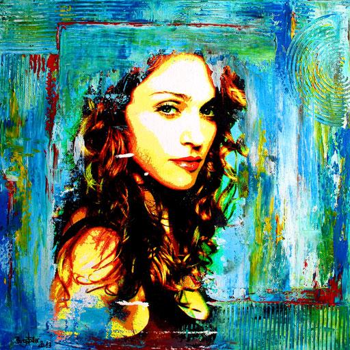 P 44 - Künstler Portrait Gesichter Gemalt - Madonna