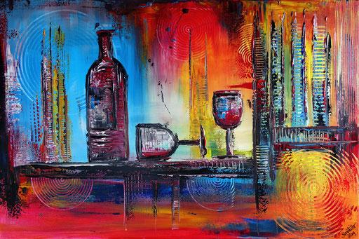 274 - Abstrakte Gemälde Verkauft - Wein Abstrakt Auftragsmalerei