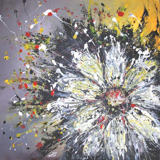 B 14 - Blumenbilder auf Leinwand - Margerite