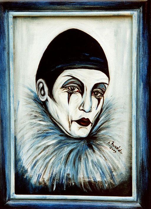 P 17 - Künstler Portrait Gesichter Gemalt -