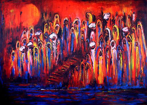 F 15 - Figuerliche Malerei - Figurative Wandbilder - Ganges