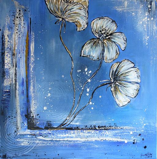 B 64 Weiße Blüten 80x80