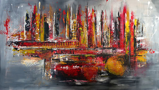 301 - Passion abstraktes Gemälde 140x80