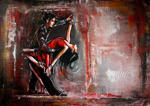 S 13- Tanz Malerei - Gemälde Tänzer - Salsa 2