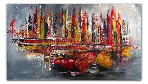 313 - Passion abstrakte Malerei braun grau