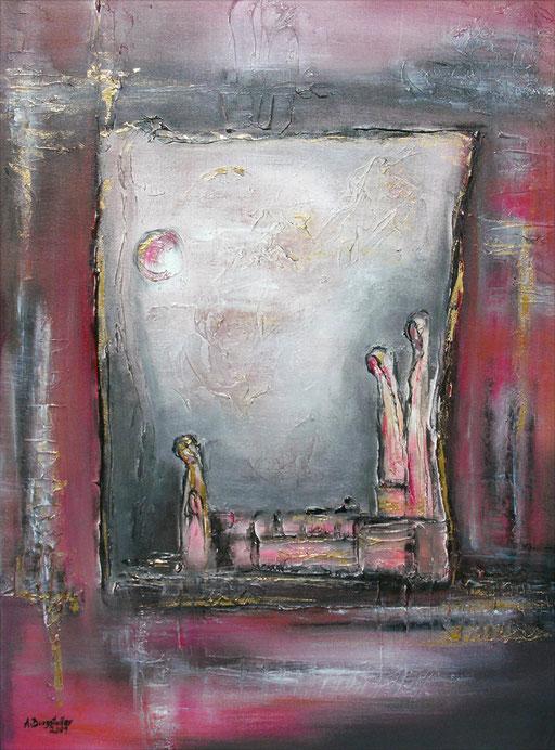 F 1 - Figuerliche Malerei - Figurative Wandbilder - Einsamkeit