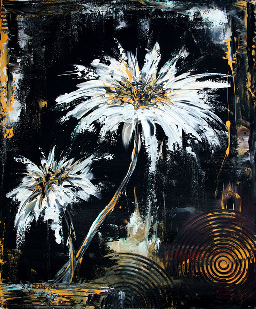 B 31 - Blumenbilder auf Leinwand - Dancing Flowers