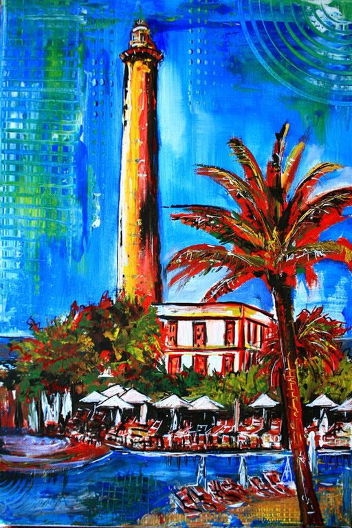 S 11 - Stadtbilder auf Leinwand - Faro