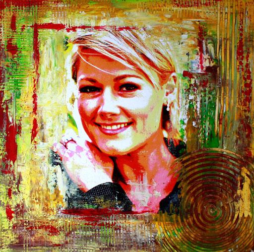 P 50 - Künstler Portrait Gesichter Gemalt -