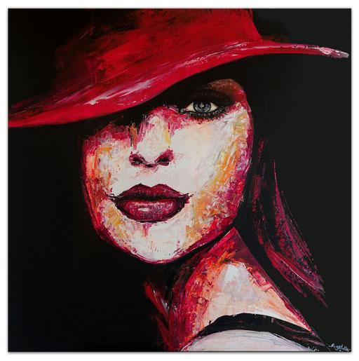 P123 Porträt Malerei Fluid Art Pouring Frauen Gesichter