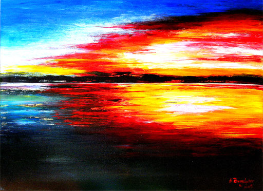 176 Verkaufte Bilder abstrakt - Sonnenuntergang gemalt