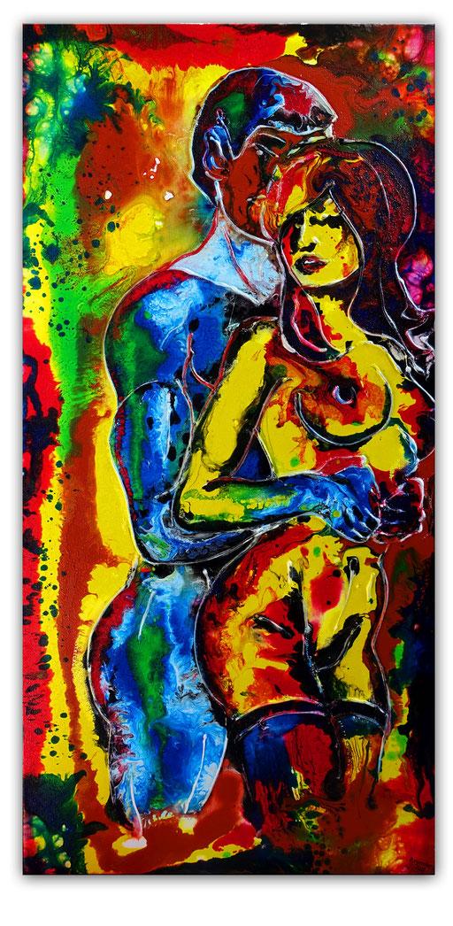 E 50 - Liebespaar Erotische Kunst Malerei 50x100