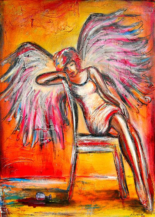 F 9 - Figuerliche Malerei - Figurative Wandbilder - Schlafender Engel