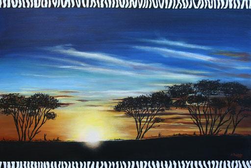 L 6 - Landschaftsbilder Gemälde - Afrika Bäume