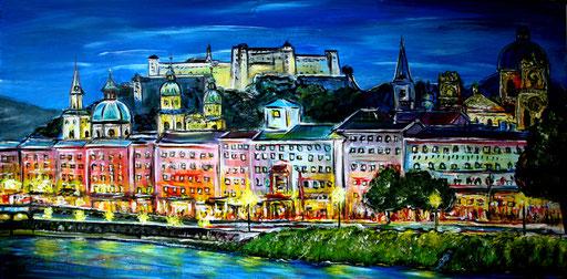 S 19 - Stadtbilder auf Leinwand - Salzburg Altstadt