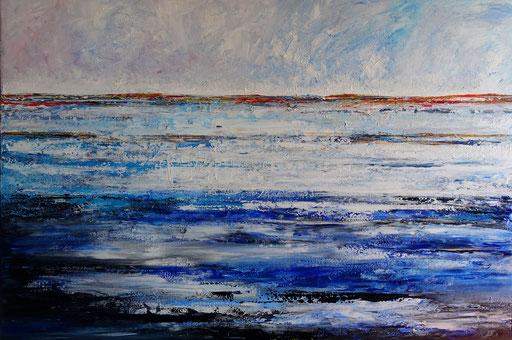 280 - Abstrakte Gemälde Verkauft - Ozean und Horizont - Auftragsmalerei