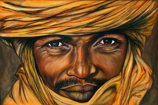 P 3 - Künstler Portrait Gesichter Gemalt - Touareg 1