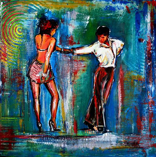 S 24 - Tanz Gemälde Tänzer - Tango Fieber