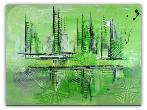 228 Verkaufte abstrakte Malerei - Green City