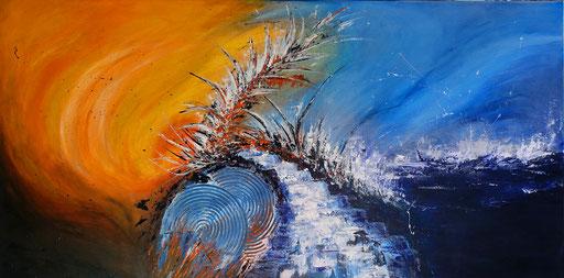 272 - Abstrakte Gemälde Verkauft - Flutwelle Auftragsmalerei