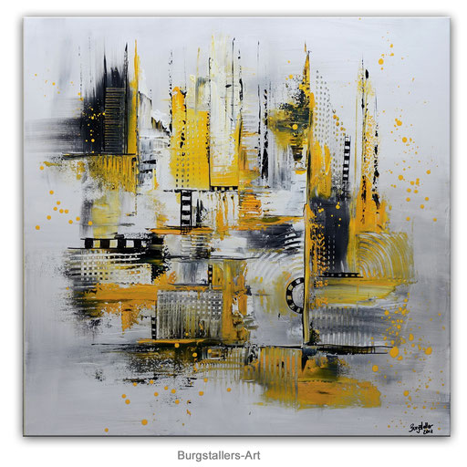 307 - Installation abstraktes Gemälde 100x100