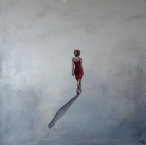 F 18 - Figuerliche Malerei - Figurative Wandbilder - Einsamkeit