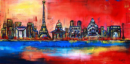 S 17 - Stadtbilder auf Leinwand - Paris