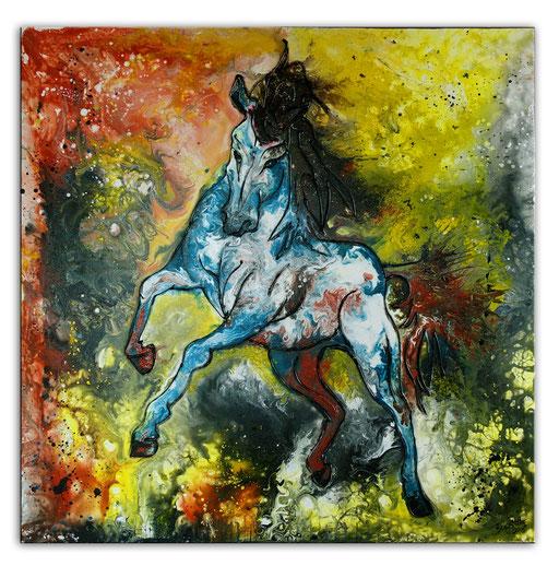 T 27 - Tierbilder Malerei Tiere - Schimmel abstrakt